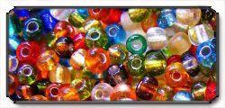 Brass Glass Beads