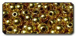 Perline in ottone gold