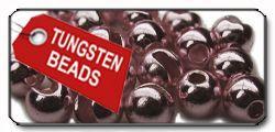 Slotted Tungsten Beads metallic
