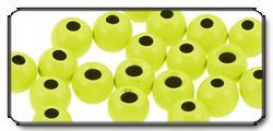 Brass Beads chartreuse