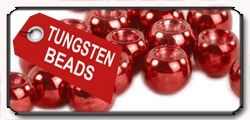 Tungsten Beads metallic red