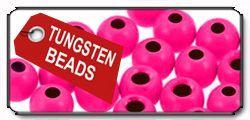Tungsten Beads fluo pink