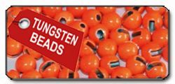 Slotted Tungsten Beads fl. orange