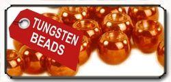 Tungsten Beads Metallic Orange Copper