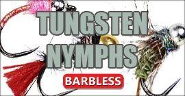 Tungsten Nymphs Barbless