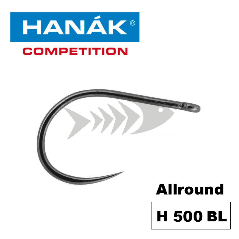 Hanak Competition Fly Hook H500 BL - Allround Fly Hook Barbless