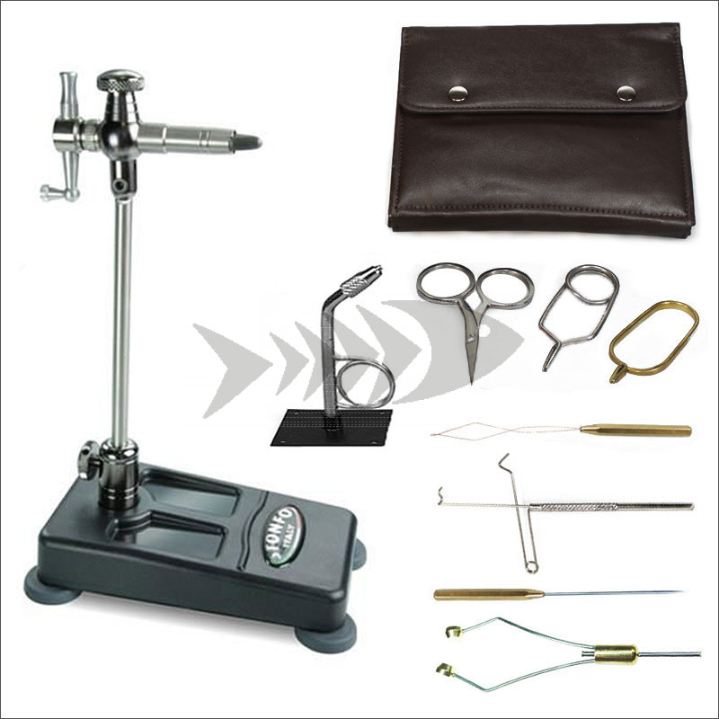Fly Tying Combo - STONFO Flylab Base Vise & Fly Tying Tools | For fly tying dries, nymphs & streamer