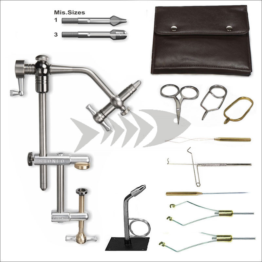 Deluxe Fly Tying Kit - Vise Stonfo Flytec Clamp & Fly Tying Tools - Dry Fly Tying - Nymph Tying - Streamer Tying
