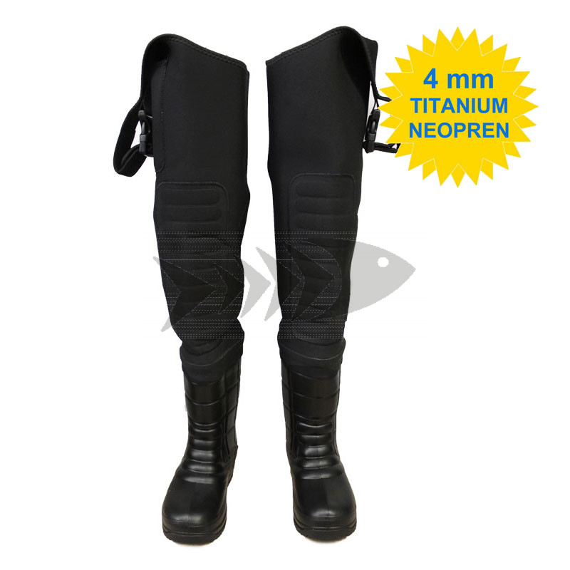 Thigh High 4 mm Neopren Wading Boots | Boots for fly & spin fishing