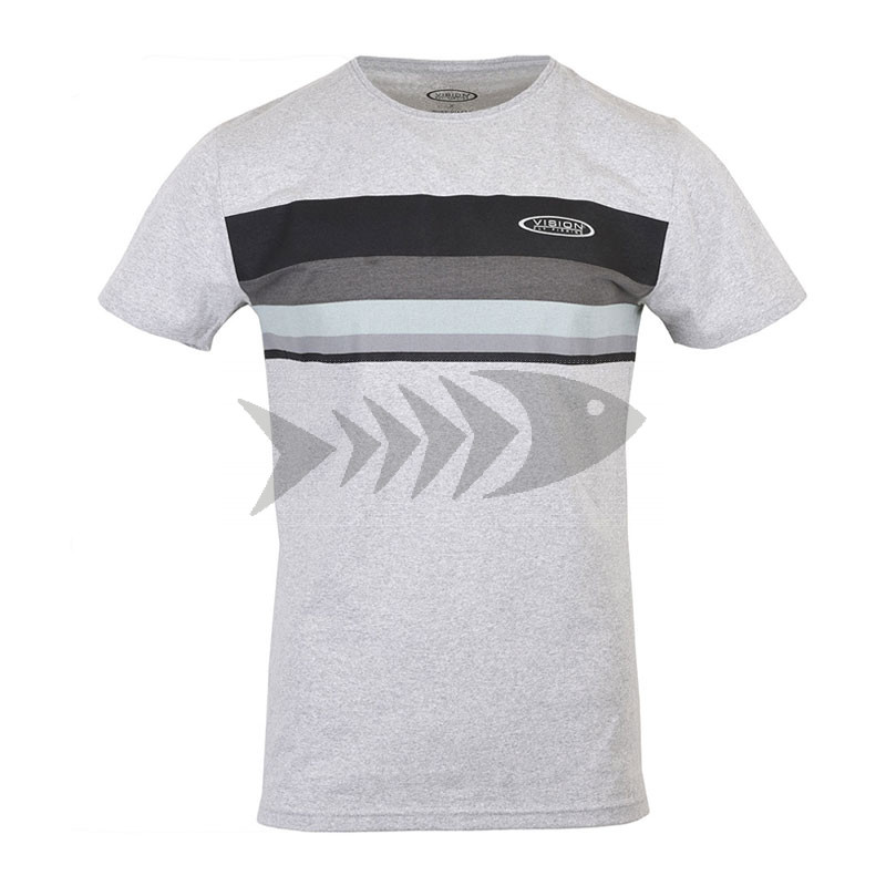 T-Shirt Vision Stripe - Front - 100% recycled textiles