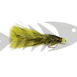Green Hot Head Damsel | Trout Fly Streamer