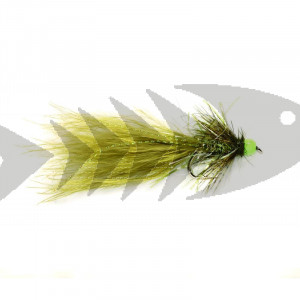 Hot Straggle Green Damsel #10 | Trout Fly Streamer
