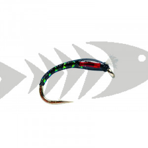 Buzzer 3D Glass Black | Coregonus - Grayling - Trout nymph