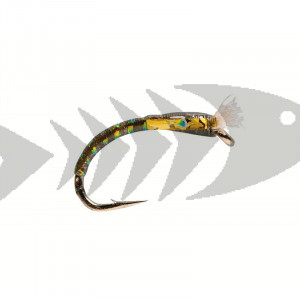 Buzzer 3D Glass Dark olive | Coregonus - Grayling - Trout nymph