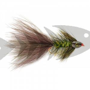 Wolly Bugger Grizzly Skullhead | Trout Fly Streamer