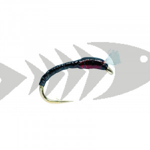Floss Black | Coregonus - Grayling - Trout nymph