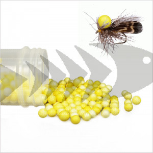 Foam Balls yellow for dry fly floatant