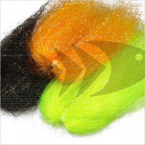 Ghost Flash Hair | Synthetic Fibers UV Mixed for baitfish imitation on fresh- and saltwater pattern