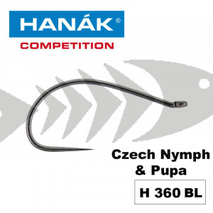 Hanak Competition Fly Hook H360 BL - Czech Nymph & Pupa
