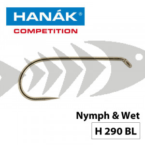Hanak Competition Fly Hook H290 BL | Barbless Nymph - Wet Fly Hook