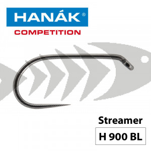 Hanak Competition Fly Hook H900 BL - Streamer Barbless Hook