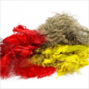 Marabou Grizzly Feathers | High qualitay marabou feathers
