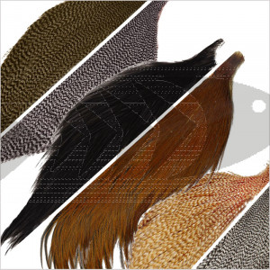 Combo Metz Half Neck Cape Grade #3 | Hackle feathers fly tying material