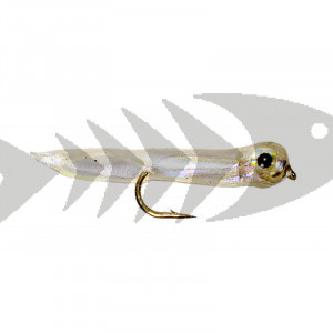 Micro Trout Gummy - Clear | Trout minnow streamer