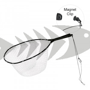 Wading Rubber Net with Magnetic Clip