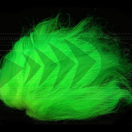 Icelandic Sheep Hair col. fluo green