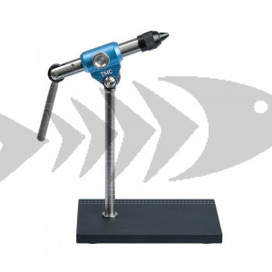 TMC Solid Vise HD Blue   Tiemco Quality Fly Tying Vise - takes hooks from size #32 to #5/0