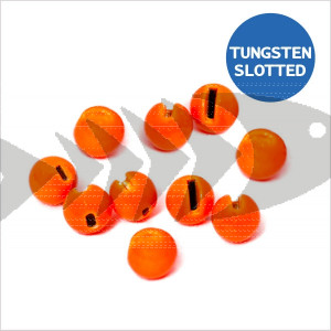 Tungsten Beads Slotted col. fluo orange