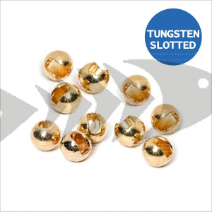Tungsten Beads Slotted col. gold