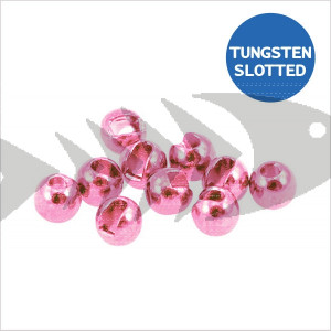 Tungsten Beads Slotted col. light pink