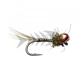 Copper Olive Quill Off Bead Nymph