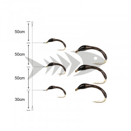 Coregonus (Grayling) 3-Nymph System Lavarello 70