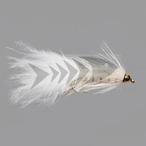 Gold Head Wolly Bugger White