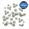 Tungsten Beads Slotted silver 100pc