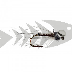 Silver CDC Quill Off Bead Nymph