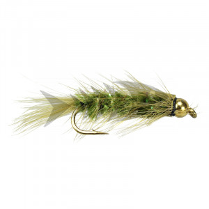 Wolly Worm Olive - Grizzly