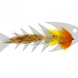 Articulated Whistler Yellow & Orange | Streamer da luccio