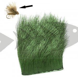 Elk Body Hair col. green