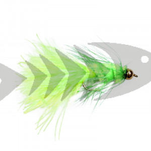 Gold Head Wolly Bugger - Fluo Chartreuse