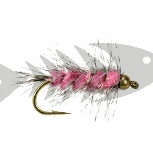 Wolly Worm Pink - Grizzly
