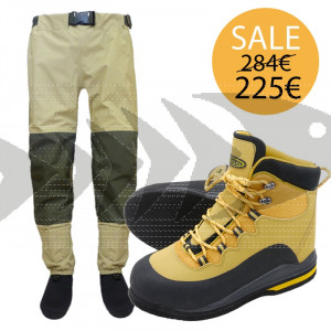 Kit Wader Travel Pants & Scarpone Vision Loikka Feltro