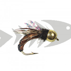 Tungsten Wired Caddis Amber