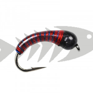 Tungsten Epoxy Red Blue Wire Caddis