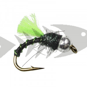 Tungsten Black Fl. Green Caddis