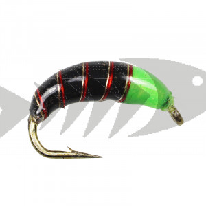Tungsten Epoxy Green Black Caddis