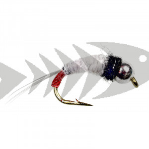 Tungsten Black White Red Caddis